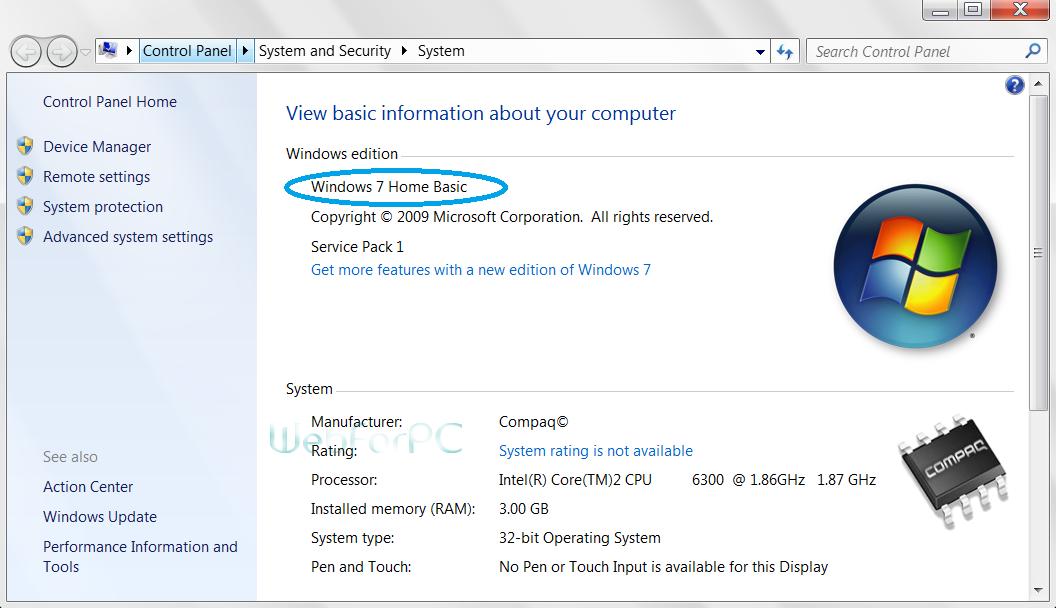 Windows 7 Home Basic Free Download 32 bit 64 Bit ISO - Web For PC