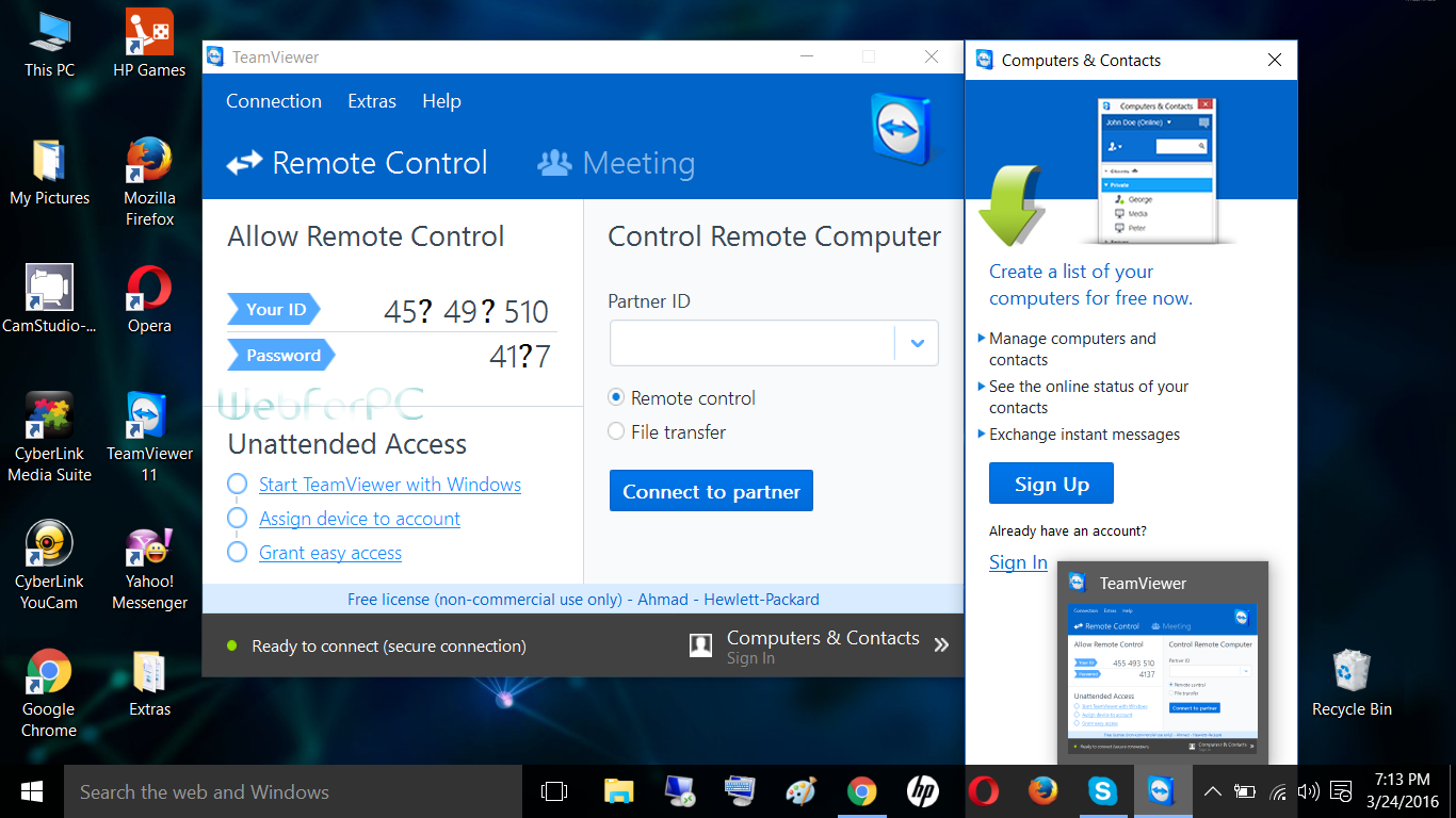 TeamViewer 11 Free Download Latest