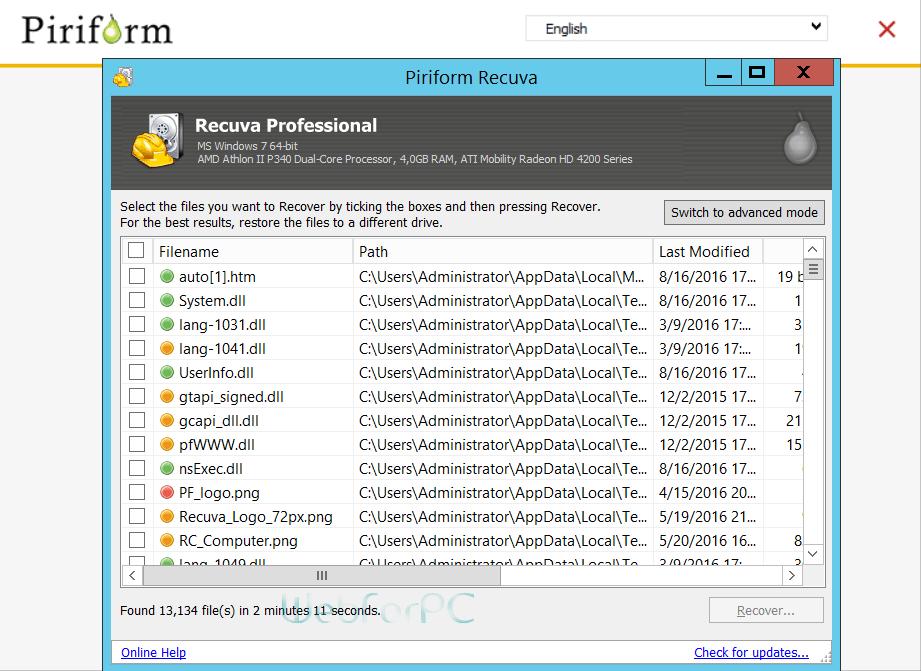 recuva software
