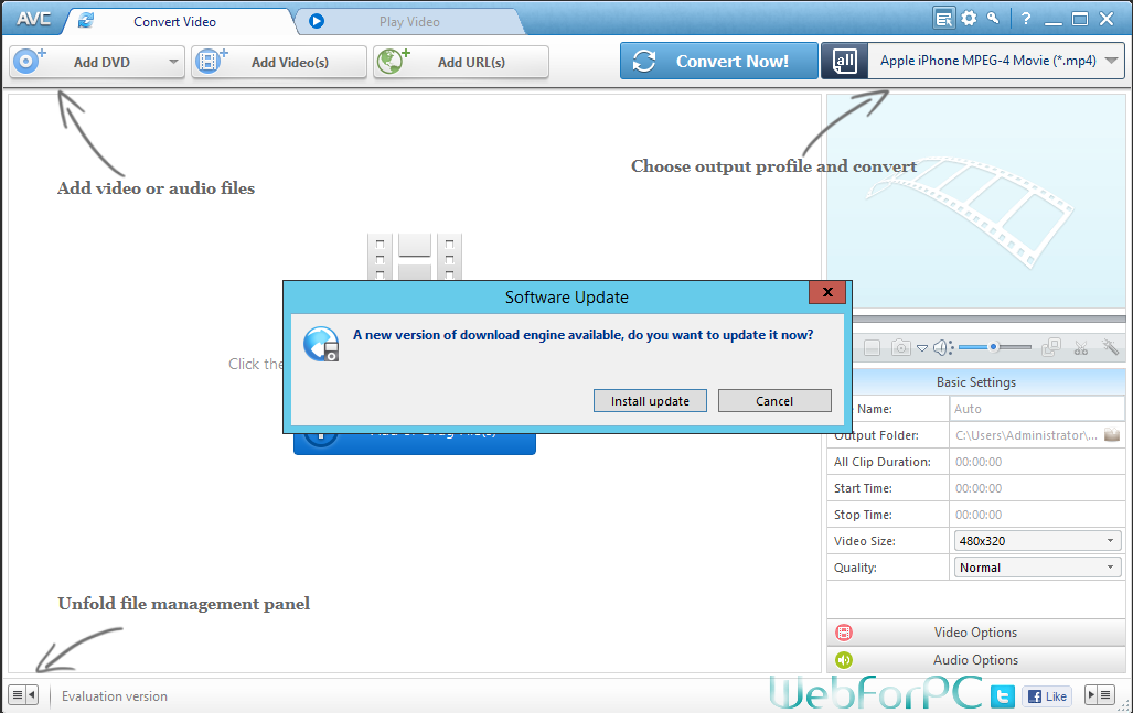Any Video Converter Professional Free Download Setup - WebForPC