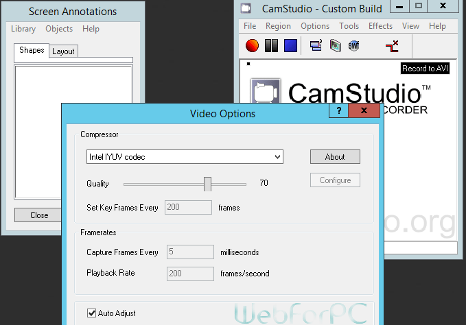 CamStudio Free Download Screen Recording