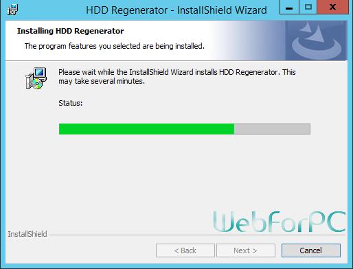 HDD Regenerator Installation