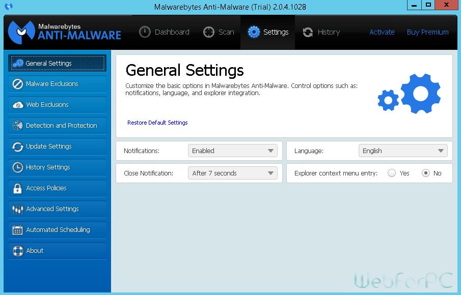 Malwarebytes Anti-Malware Premium For PC