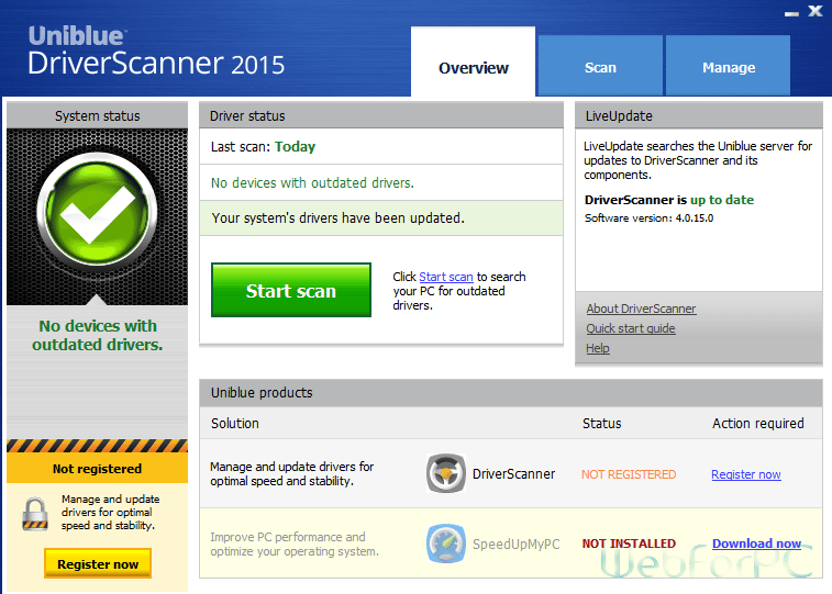 Uniblue Driver Scanner 2015 Free Download