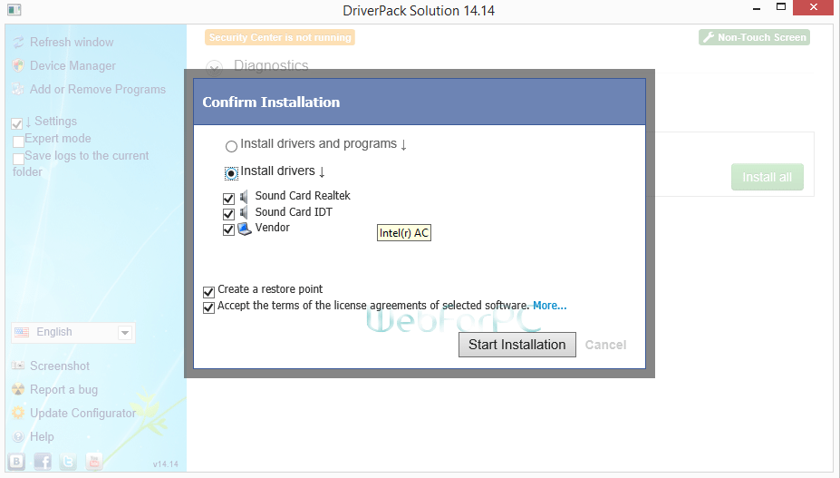 DriverPack Solution 14 Free Download - WebForPC
