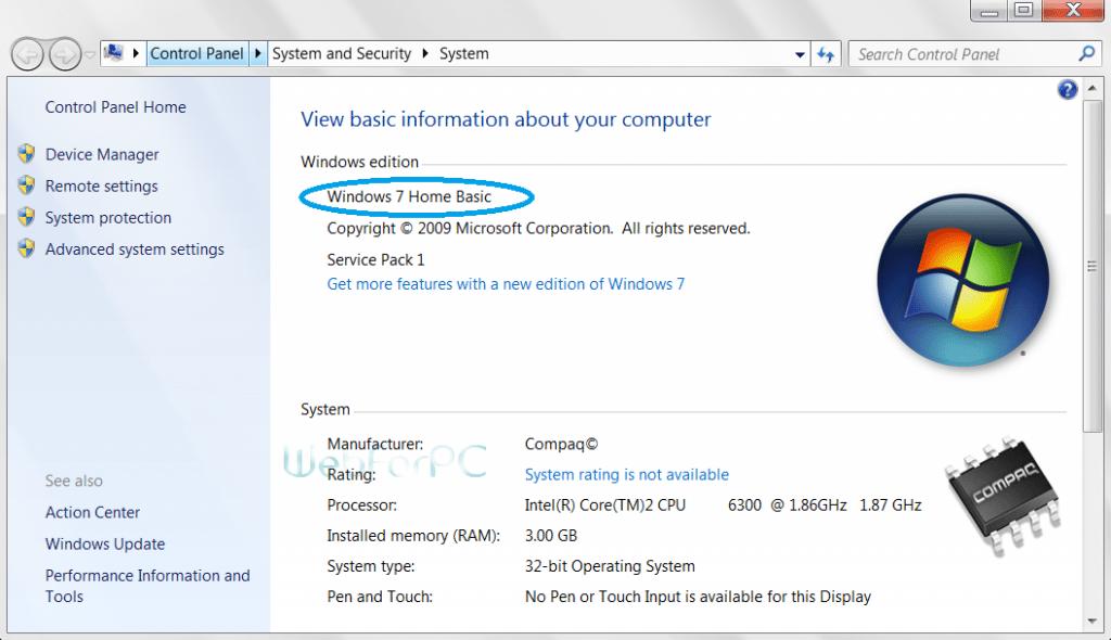 Windows 7 Home Basic Free