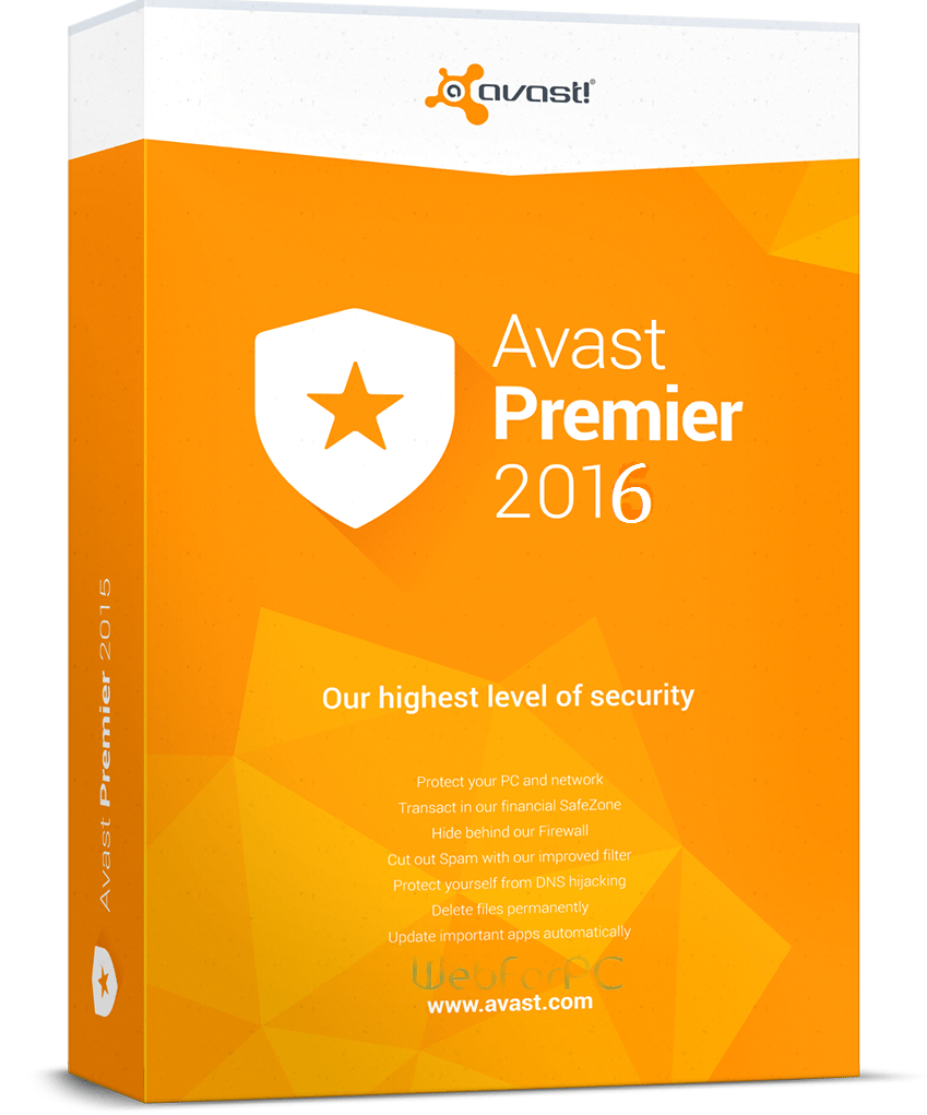 Avast Premier Antivirus 2016 Free Download Webforpc