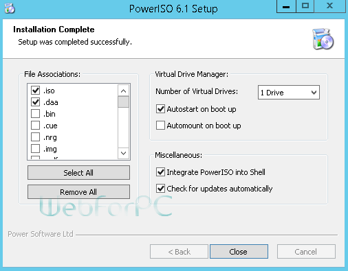 PowerISO Free Download Setup