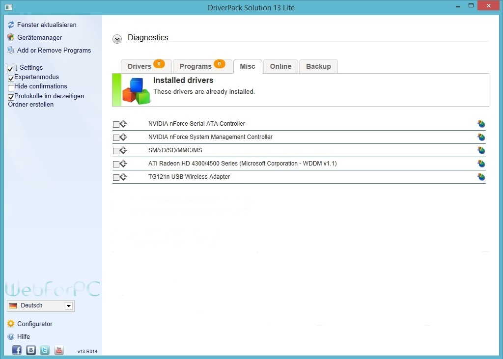 DriverPack Solution 2016 ISO Free Download - WebForPC