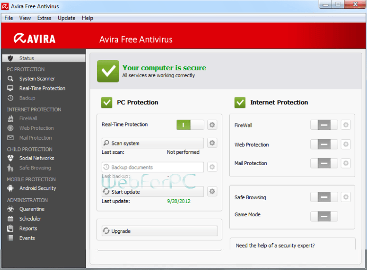 Avira Free Antivirus 15.0.17.273 Download