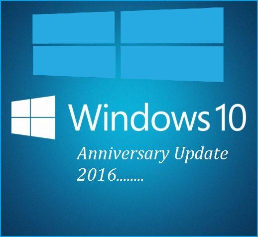 windows 10 anniversary update 2016