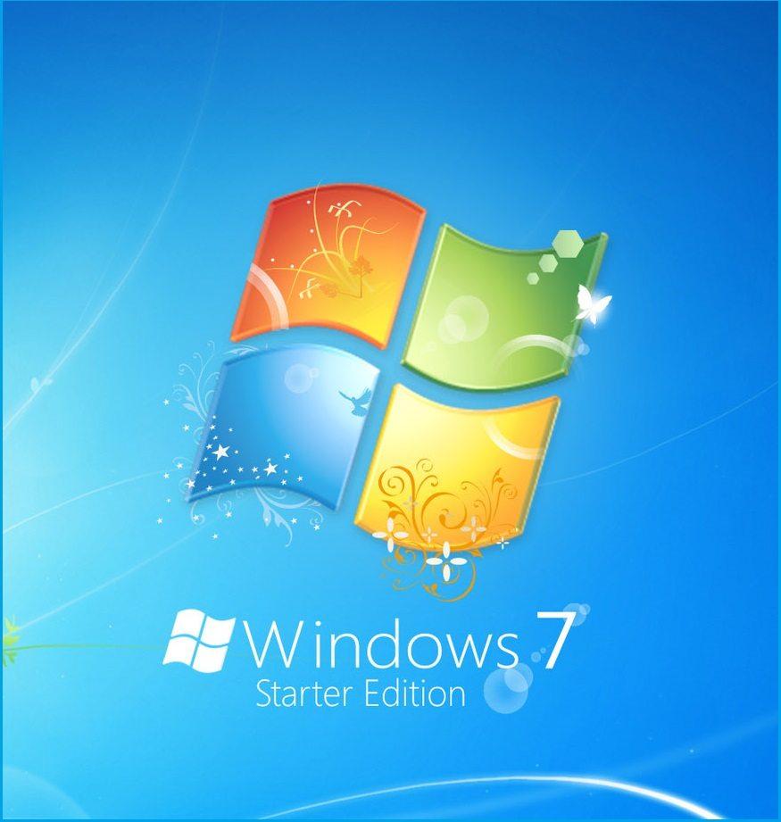 windows 7 starter logo screen