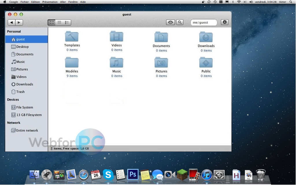 Mac OS X Mountain Lion Free Download DMG - WebForPC