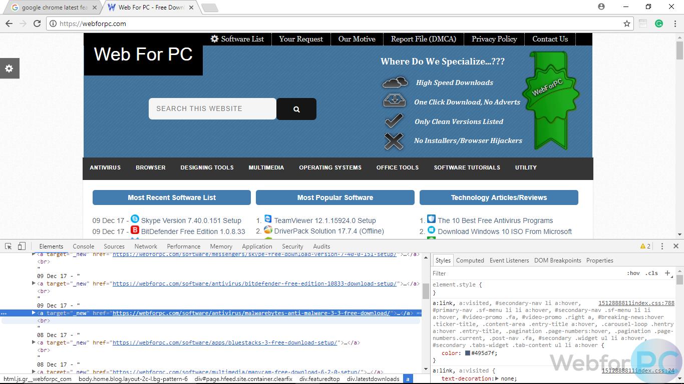 free pc software download windows 7 google chrome