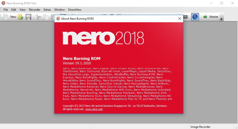 nero burning rom 2019 trial