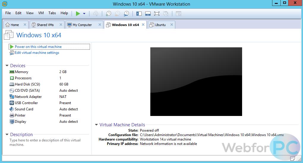 VMware Workstation 14 1 1 - Download For Windows - WebForPC