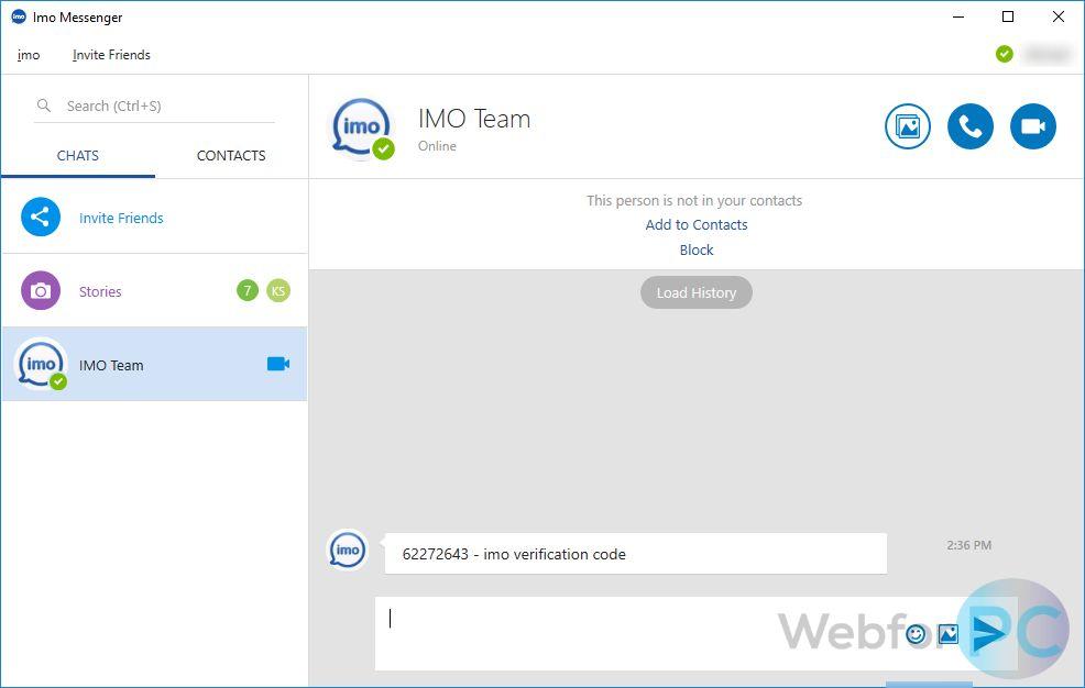 imo messenger install windows