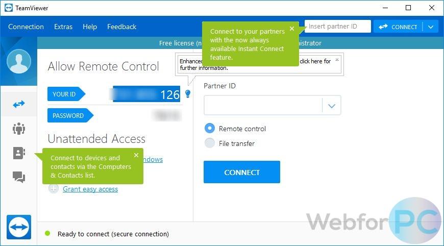 TeamViewer 13 1 1548 - Download For Windows - WebForPC
