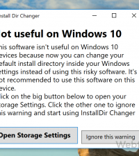 How to Change Default Install Directory In Windows 10/8/7