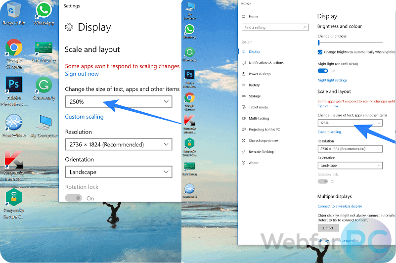 How To Reduce Size Of Desktop Icons Windows 10 How to Change