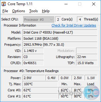 Core Temp 1 12 - Download For Windows - WebForPC