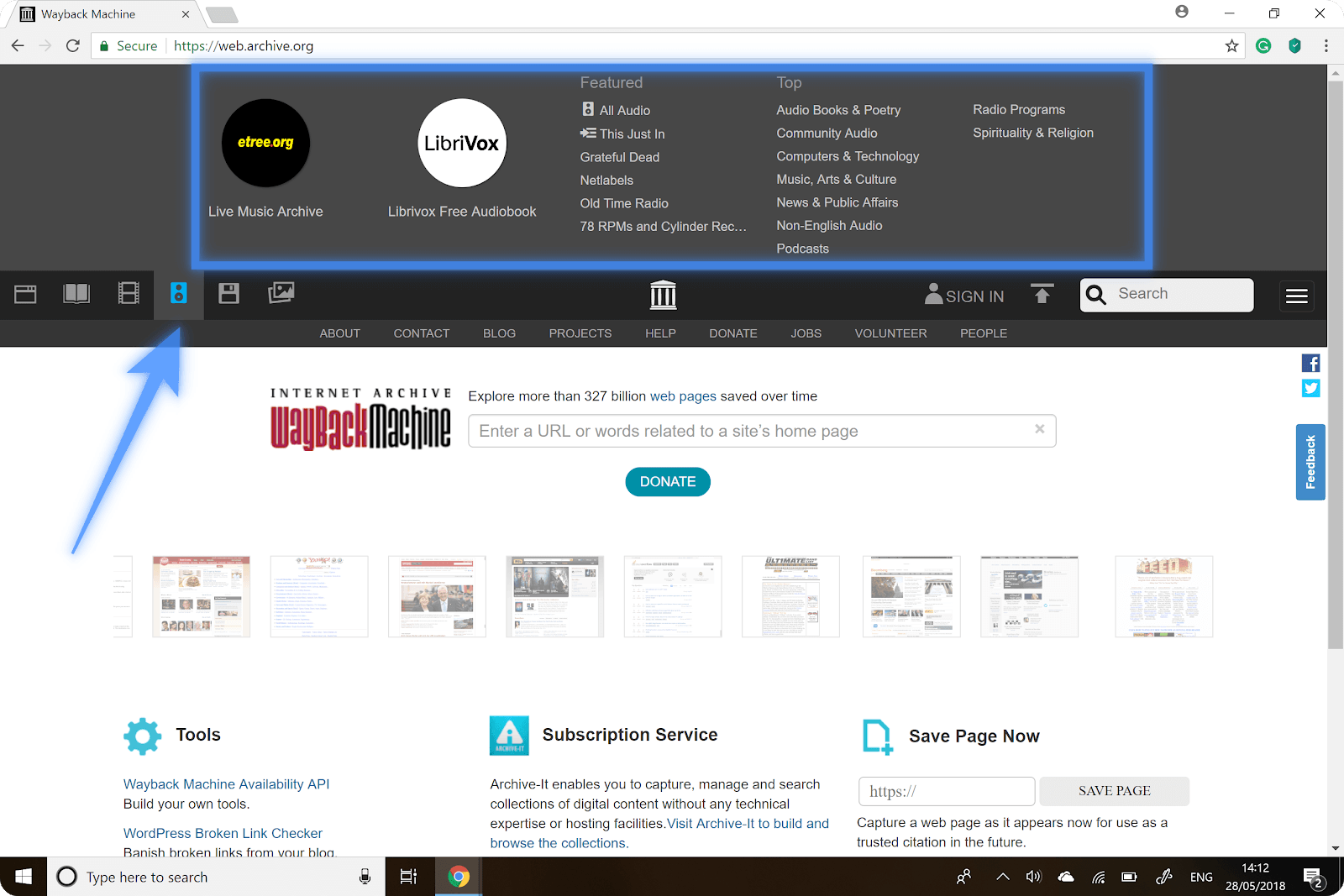 How to Use Wayback Machine: The Archived Web Pages - WebForPC