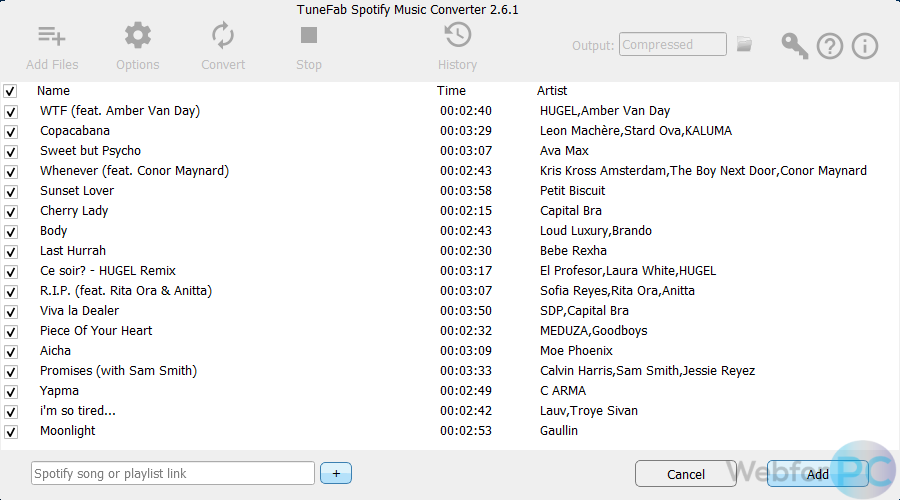 TuneFab Spotify Music Converter - For Windows & Mac - WebForPC